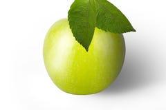 Pomme verte fraîche d'isolement sur un fond blanc photographie stock libre de droits