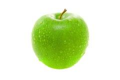 Pomme verte juteuse humide image libre de droits