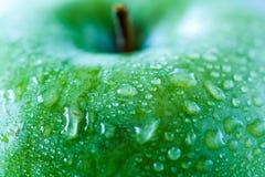 Pomme verte, macro Concept de nourriture de Vegan Images stock
