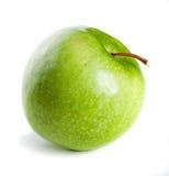 Pomme verte sur le fond blanc Photo stock