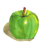 Pomme verte sur le fond blanc Images stock