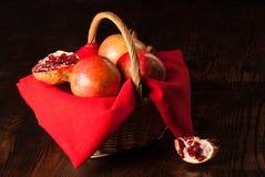 Pommegranates still life Stock Image