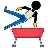 Pommel horse. Silhouette-man sport icon - pommel horse Stock Photography