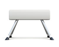 Pommel horse  on white background. Side view. 3d renderi Stock Photography