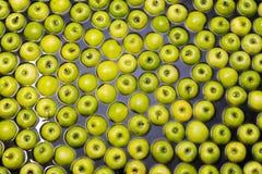 Pommes assortissant et emballant Images libres de droits