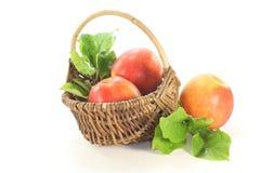 Pommes avec des lames Photos libres de droits