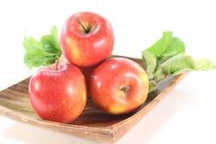 Pommes avec des lames Photo libre de droits