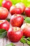 Pommes avec des lames Photos stock