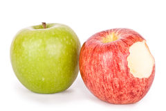Pommes avec un dégagement images libres de droits