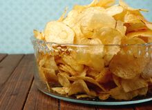 Pommes chips Photographie stock