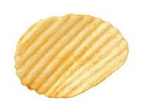 Pommes chips avec des arêtes d'isolement photo stock