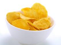 Pommes chips croustillantes Images libres de droits