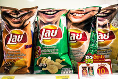 Pommes chips de configurations en Thaïlande images libres de droits