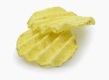 Pommes chips dentelées Photographie stock libre de droits