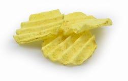 Pommes chips dentelées Photographie stock
