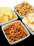 Pommes chips et casse-croûte Images libres de droits