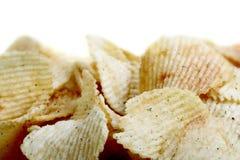 Pommes chips salées Images libres de droits