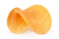 Pommes chips sur le blanc Images stock