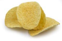 Pommes chips sur le fond blanc Image stock