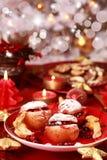 Pommes cuites au four pour Noël photographie stock