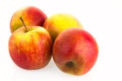 Pommes d'isolement sur le fond blanc Images stock