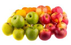 Pommes d'oranges, rouges et vertes fruit Image libre de droits