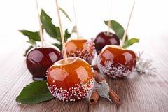Pommes de caramel Photos libres de droits