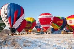 Pommes de festival dans la neige 2015 Photographie stock libre de droits