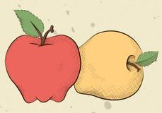 Pommes de style de vintage illustration libre de droits