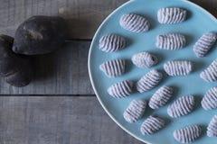 Pommes de terre de Bluestar avec le gnocchi photo stock