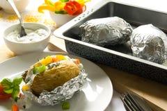 Pommes de terre cuites au four images stock