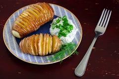 Pommes de terre cuites au four Photo stock