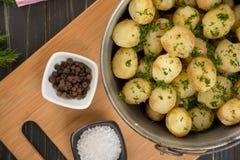 Pommes de terre cuites au four de bébé Photographie stock