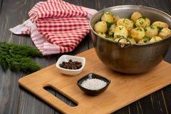 Pommes de terre cuites au four de bébé Photographie stock libre de droits