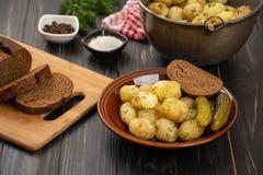 Pommes de terre cuites au four de bébé Image stock