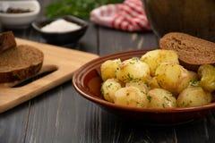 Pommes de terre cuites au four de bébé Photos stock