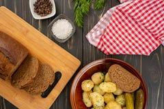 Pommes de terre cuites au four de bébé Photo stock