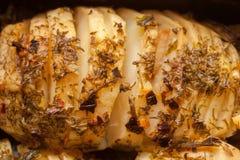 Pommes de terre cuites au four par accordéon Photographie stock libre de droits