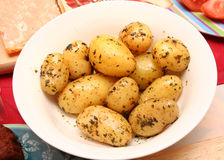 Pommes de terre d'herbe Photos stock