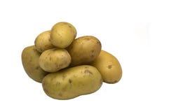 Pommes de terre d'isolement sur le blanc Images stock