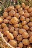 Pommes de terre dans le panier Photographie stock