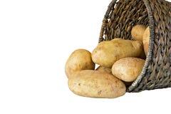 Pommes de terre dans un panier tissé Photo libre de droits