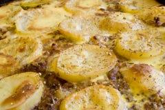 Pommes de terre de Gratined Images libres de droits