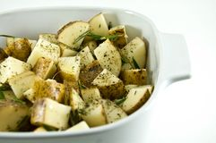 Pommes de terre de Rosemary Image libre de droits