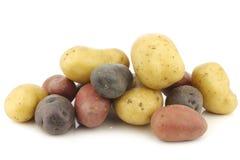 Pommes de terre jaunes, rouges et pourpres images libres de droits