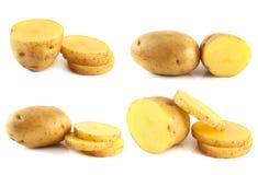 Pommes de terre réglées d'isolement sur le fond blanc. Photographie stock