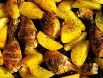 Pommes de terre rôties de fin  Photographie stock libre de droits