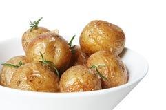 Pommes de terre rôties par sel Photographie stock