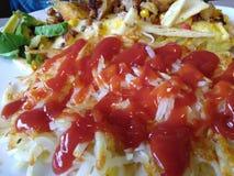 Pommes de terre rissolées pour le petit déjeuner images libres de droits