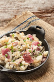 Pommes de terre rouges écrasées Photo stock
